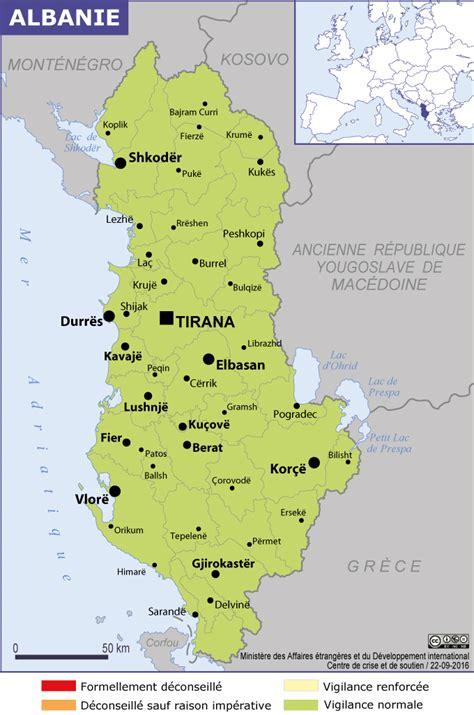 Carte Du Monde Avec L Albanie by Albanie