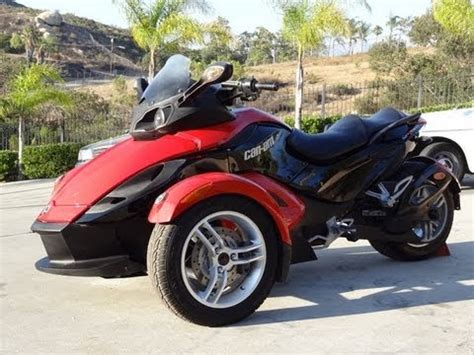 can am trike 09 can am spyder brp bombardier trike se5 motorcycle roadster sport bike review