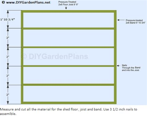 10x10 Shed Plans Materials List by How To Build A Shed Floor For A 10x10 Gable Shed