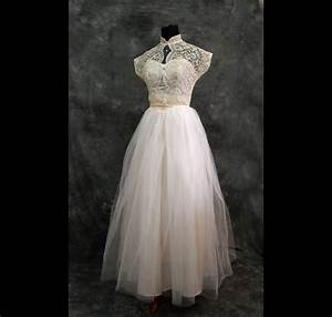 Ivory lace vintage wedding dress xs 40s for 40s wedding dress