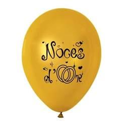 anniversaire de mariage 9 ans 10 ballons de baudruche noces d 39 or