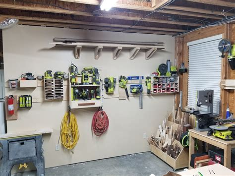 french cleat workshop wall ryobi nation projects