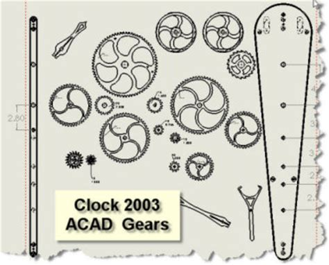 wooden gear clock plans  dxf easy diy woodworking