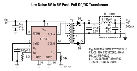 lt  noise    push pull dcdc transformer