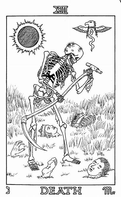 Tarot Coloring Death Pages Card Own Deck