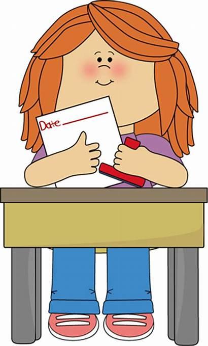 Clipart Classroom Job Clip Sitting Helper Cleaning