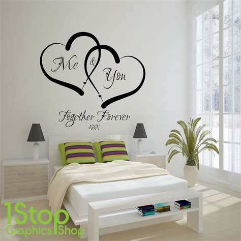 home wall decor stickers me and you wall sticker quote home wall