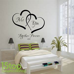 ME AND YOU LOVE HEART WALL STICKER QUOTE