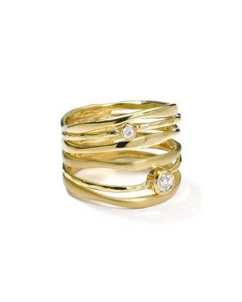 Ippolita 18k Gold Movie Star Diamond Stacked Ring  Neiman. Homemade Wedding Rings. Square Rings. Wife Ellen Degeneres Engagement Rings. Pearl Ring Engagement Rings