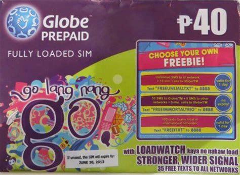globe prepaid sim karte philippinen