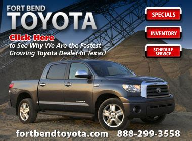 Bend Toyota by Fort Bend Toyota Scion Service Center Toyota