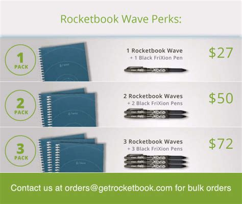 rocketbook wave cloud ready microwavable notebook indiegogo