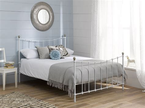 White Metal Bed Frame Queen Bed Iron Queen Bed Frame White