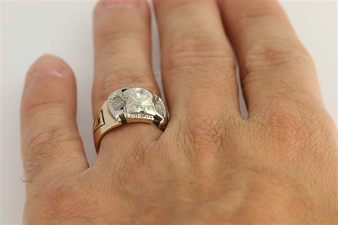 Vintage Scottish Rite Diamond Ring