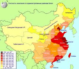 Population Density Map of China