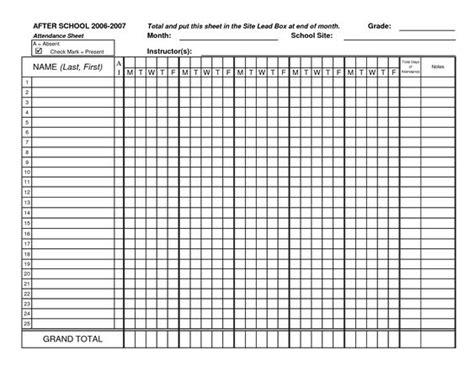 classroom attendance attendance sheet and attendance on