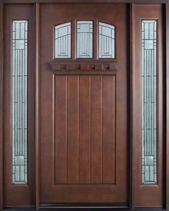 Entry Door in-Stock - Single with 2 Sidelites - Solid Wood ...
