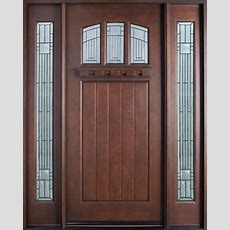 Entry Door Instock  Single With 2 Sidelites  Solid Wood