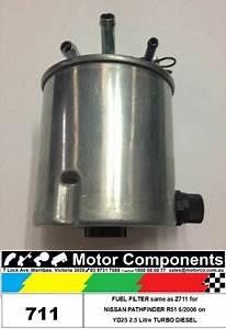 Fuel Filter For Nissan R51 Pathfinder Yd25 2 5l T Diesel 6