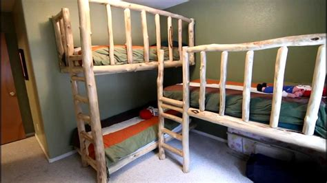 triple bunk beds  aspen logs youtube