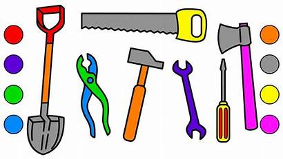 Tools Coloring Drawing Building Pages Tool Clipart