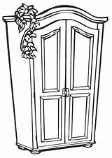 Cupboard Coloring Pages sketch template