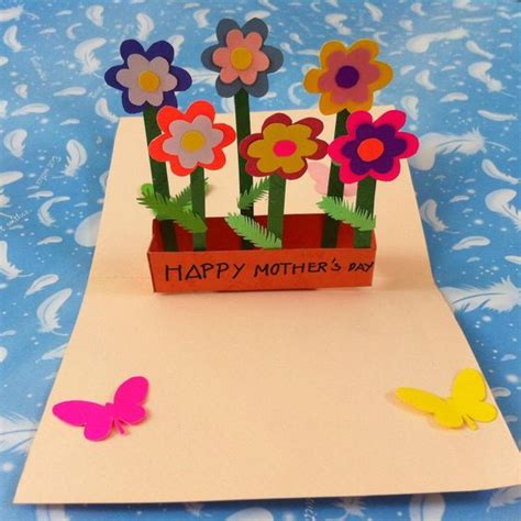 diy pop up flower mother s day card flower mother s day