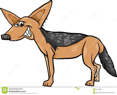 Cartoon : Jackal Animal Cartoon Illustration Stock Vector