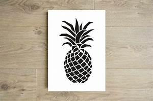 Ananas Deco Blanc : decoration ananas noir ~ Teatrodelosmanantiales.com Idées de Décoration