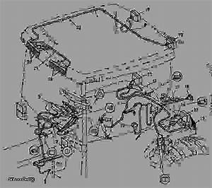 Wiring Harness  Cab  Pst  For Europe  - Tractor John Deere 7810 - Tractor
