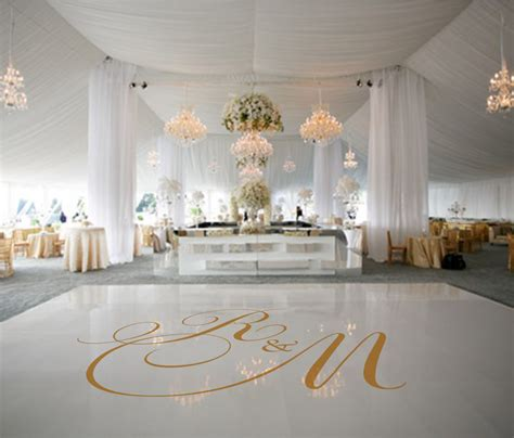 floor decor for weddings dance floor decal wedding decor wedding decoration monogram
