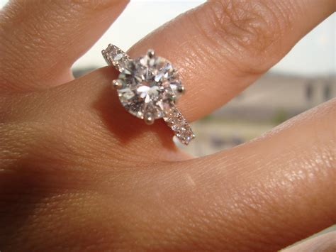 beautiful 2 carat engagement rings on hand models 26 three