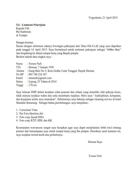 contoh surat lamaran kerja lulusan sma ben contoh