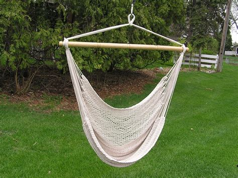 Hammock Swing Chair by Deluxe Large White Rope Cotton Hammock Swing Chair