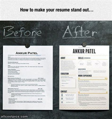 Make Your Resume by Make Your Resume Stand Out Cool Pictures