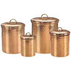 kitchen canisters set copper canister set decor hammered 843
