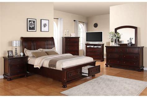 Bedroom Sets Peter  Cherry Full Bedroom Set