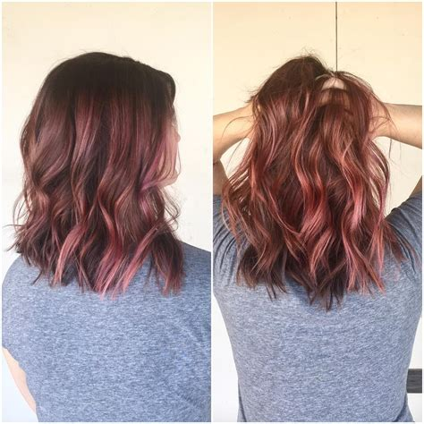 Dusty Rose With Pink Streaks Hair Styles Haar Kleuren