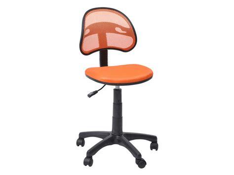 chaise bureau orange chaise dactylo azalie coloris orange vente de fauteuil