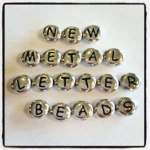 metal letter beads diy jewelry pinterest With metal letter beads