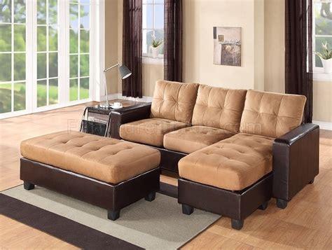 sectional sofa set  dark brown bi cast beige