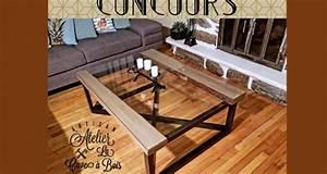 Dessus De Table En Verre : table de salon en pin avec un dessus en verre tremp ~ Teatrodelosmanantiales.com Idées de Décoration