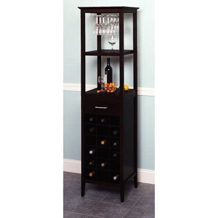 walmart wine cabinet 18 bottle wine tower with rack and shelves walmart