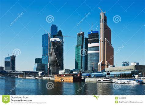 vue de la ville moderne complexe de moscou de gratte ciel image libre de droits image 30466616