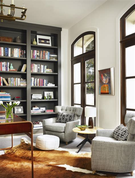 Living Room Bookcases Built In by Rooms That Prove Black Built In Bookcases Are The Next Big