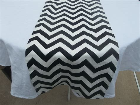 black and white table runners black and white chevron table runner