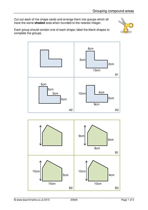 Ks3 Geometry And Measure  Area And Perimeter  Compound Shapes  Teachit Maths