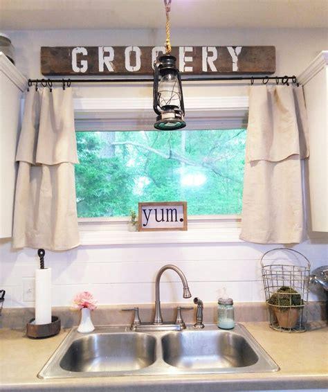 farmhouse kitchen curtains ideas  pinterest