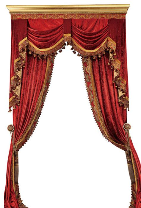 Floral Red Curtains luxury velvet curtains set traditional curtains by