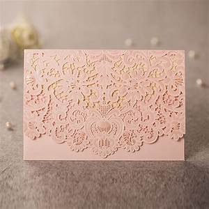 aliexpresscom buy pink laser cutting invitation cards With personalized e wedding invitation cards